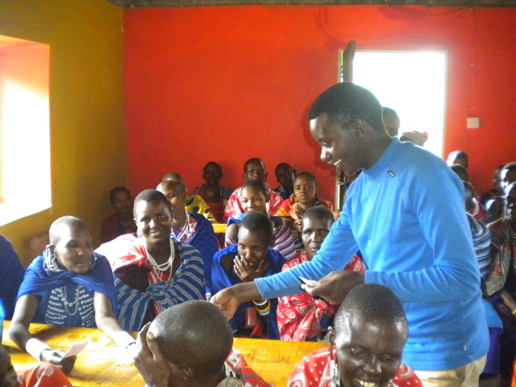 Interaction during a MLP class in Tanzania.
