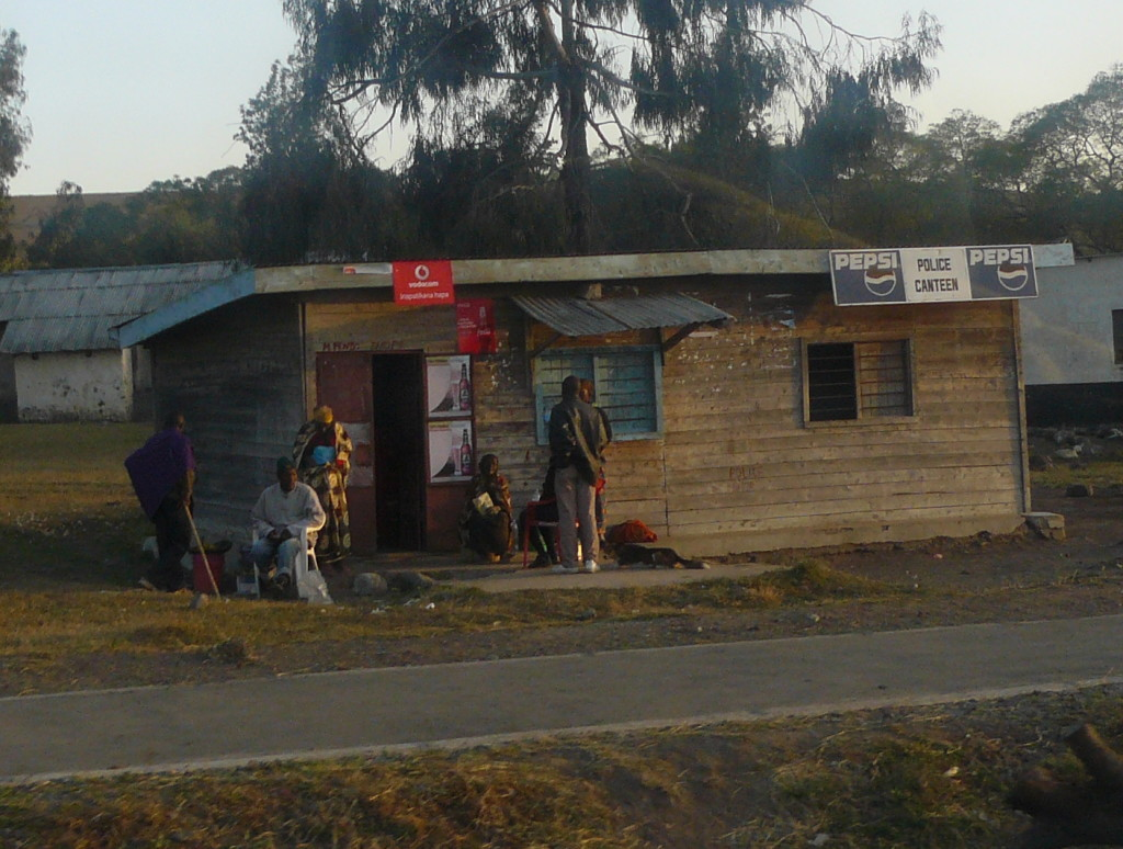 A neighborhood shop in Tanzania, where class participants might go for their real-life shopping experiences.