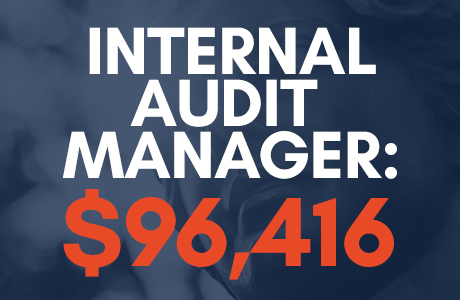 internal audit manager salary: $96,416