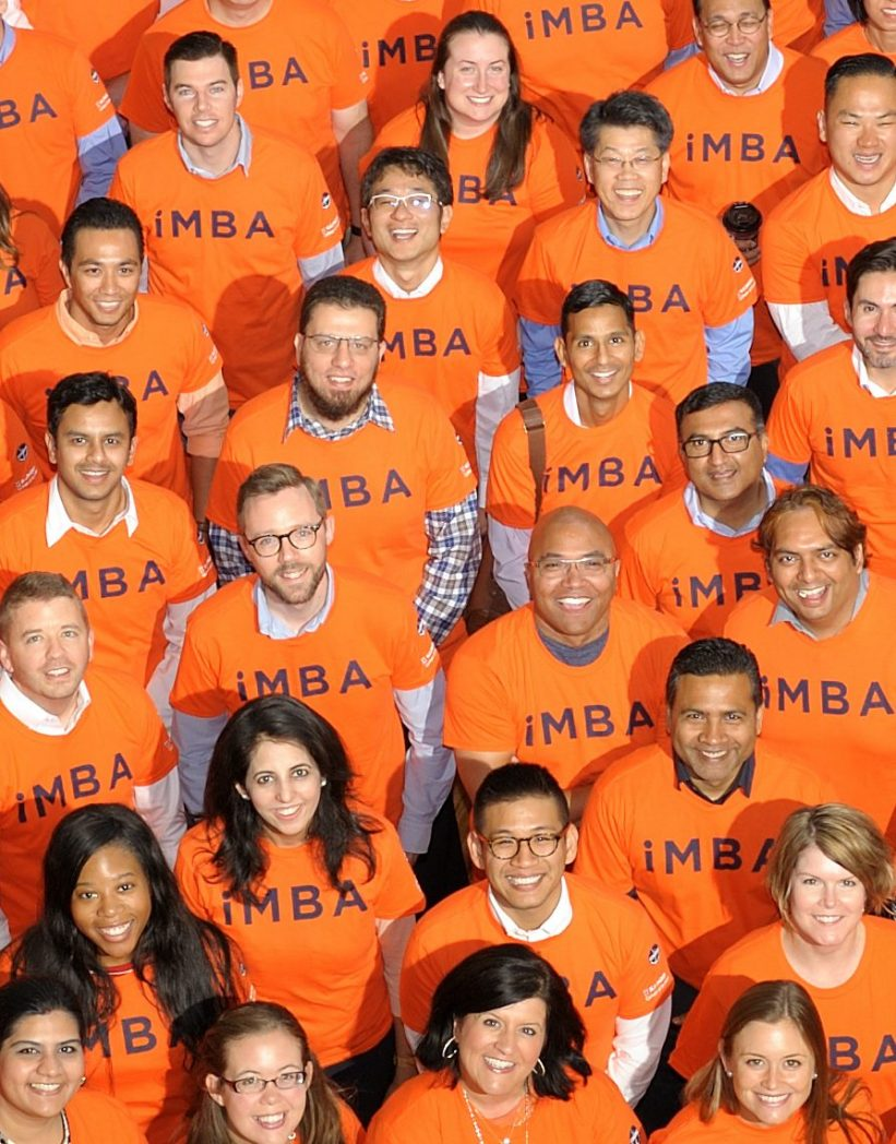 group of iMBA students in iMBA tshirts