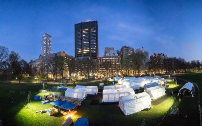 tents in a city