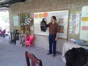 Luis Chavez teaches consumer and entrepreneurial literacy in Honduras.