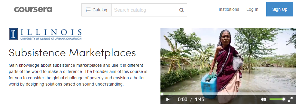 Free Worldwide Course - Subsistence Marketplaces Initiative